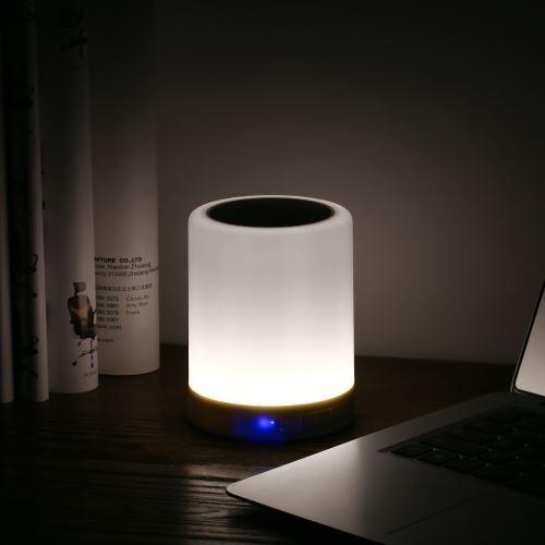 Lampe De Chevet Led Touch Rechargeable Par Usb Smart Coloré Rgb Led Veilleuse Sans Fil Bt Haut Parleur Commande Tactile Dimmable Lampe Ambiance