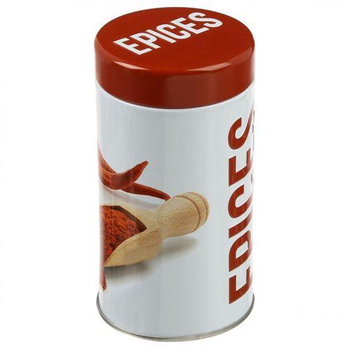 Boîte à Epices Relief Rouge