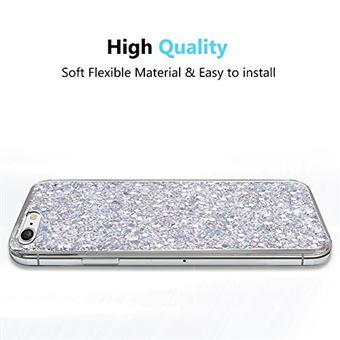 OKZone Coque iPhone 6S Coque iPhone 6 Mince Etui en Silicone Souple Paillette Stra Brillante Bling Bling Glitter de Luxe Flexible Plein Corps TPU pour iPhone 6 iPhone 6S 4 7 Pouces Argent