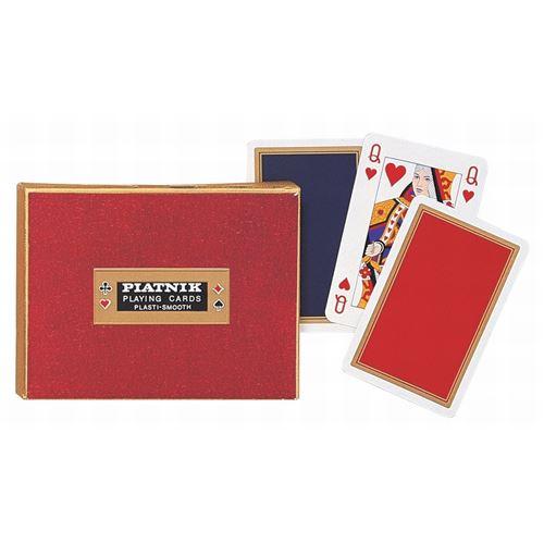 PIATNIK Coffret de 2 jeux de cartes MONOGRAM DE LUXE Multicolore
