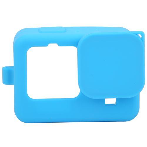 Étui de protection en silicone avec film de protection d'écran pour Gopro hero9 - Bleu