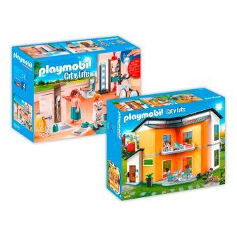 35 99 Sur Playmobil 9266 9368 Maison Moderne 2 Boites 9266 9268
