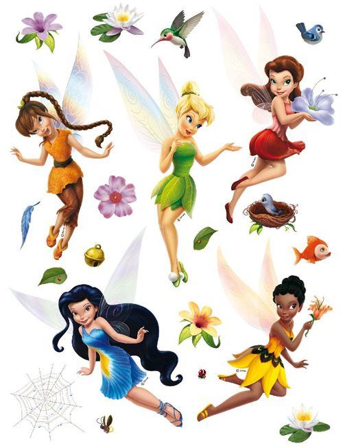 Stickers géant Fée Clochette La Vallée du printemps Disney fairies