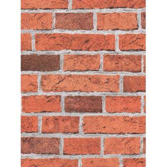 Papier peint d\'effet de brique rouge AS Creation - Décors et ...