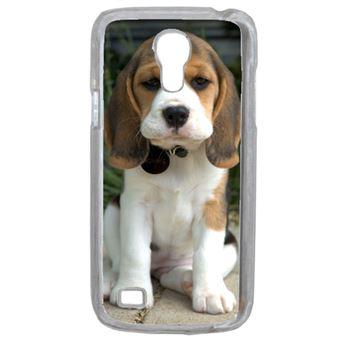 Coque Chien Mignon Compatible Samsung Galaxy S4 Mini Transparent