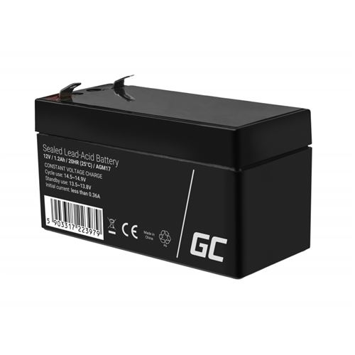 Green Cell AGM Batterie au plomb 12V 1.2Ah