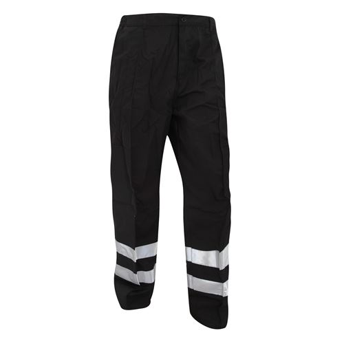Yoko - Pantalon de travail haute visibilité, coupe régulière - Homme (Lot de 2) (46 FR) (Noir) - UTBC4407