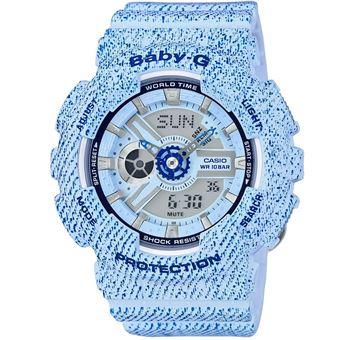 Montre Femme Casio Baby G BA 110DC 2A3ER Bleu