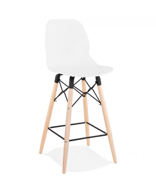Paris Prix - Tabouret De Bar Scandinave astral 105cm Blanc
