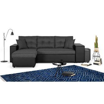 Canapé Avec Coffre Réversible D'angle De Tissu Et Étagère En Rangement California Convertible Simili TFJKl1c