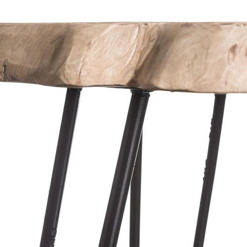 Table D Appoint Tronc De Bois De Teck Pawel N 2 Achat