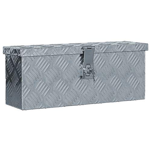 vidaXL Boîte en aluminium 48,5 x 14 x 20 cm Argenté