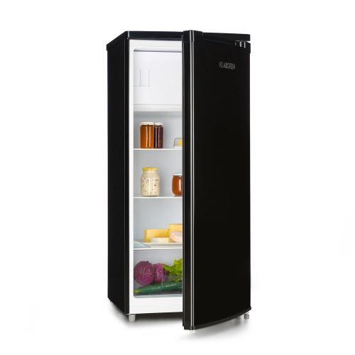 Klarstein Samara L Réfrigérateur 181 L avec freezer - Crisper bac à légumes & clayettes amovibles - Classe A+ - noir