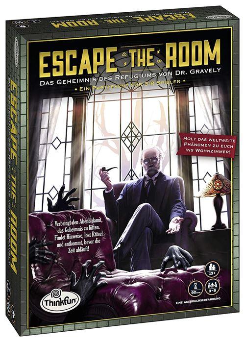 Ravensburger 76310 Thinkfun Escape The Room – Le Secret du refugiums de Dr. Gravely - Jeu en langue allemande