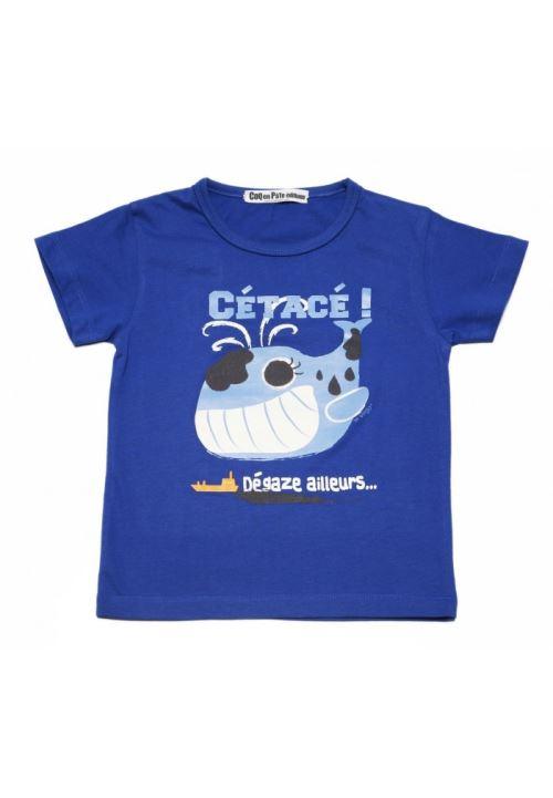 Tshirt coton bio cétacé, taille 2 ans
