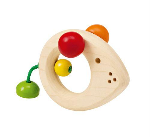 Selecta Spielzeug anneau d'attrapage Souris Topinojunior 8 cm bois naturel