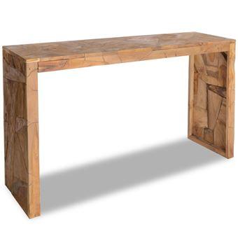 vidaxl teck table console de salon couloir 120x35x76 cm table d 39 appoint achat prix fnac. Black Bedroom Furniture Sets. Home Design Ideas
