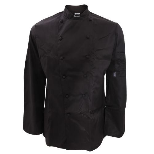 Le Chef - Veste de chef classique à manches longues - Homme (Poitrine 127 cm) (Noir) - UTRW3922