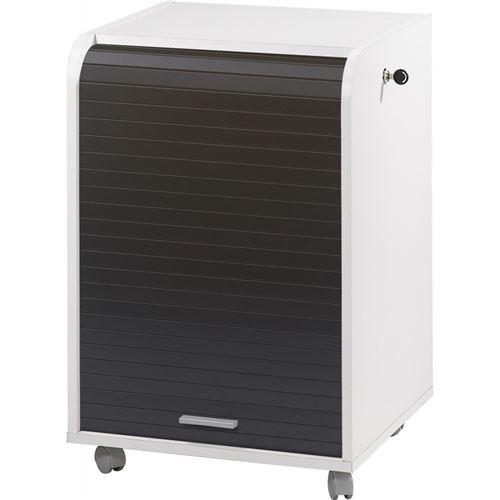 Caisson de Bureau Blanc Bicolore - Coloris: Noir