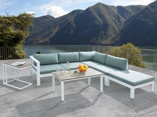 Beliani - Ensemble de jardin - Canapé de terrasse en alluminium - Mobilier de jardin - Messina
