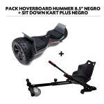 Pack Hoverboard 8.5; Hummer Black+ Hoverkart Zwart met Bluetooth-tas en afstandsbediening