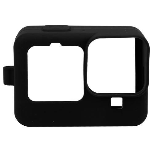 Étui de protection en silicone avec film de protection d'écran pour Gopro hero 9 - Noir