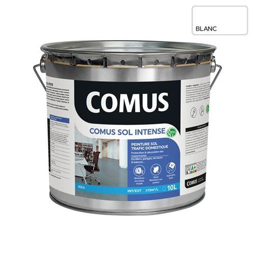 Comus Sol Intense Blanc 10l Peinture Sols Intérieurs Et Extérieurs, Trafic Intense/professionnel