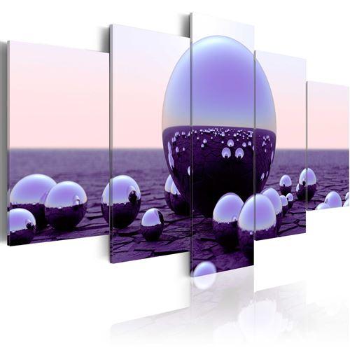Tableau - purple balls - artgeist - 100x50