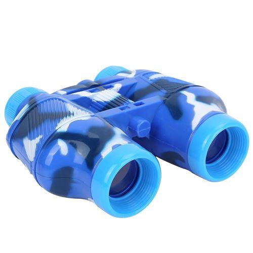 Jumelles pour enfants avec Boussole Camouflage Bleu