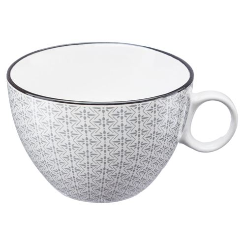 Tasse design Japon - 380 ml - Gris clair