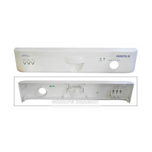 Bandeau de commande blanc pour lave vaisselle brandt