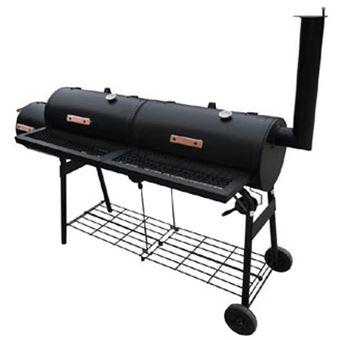 vidaXL Barbecue américain Smoker fumoir double compartiment grill