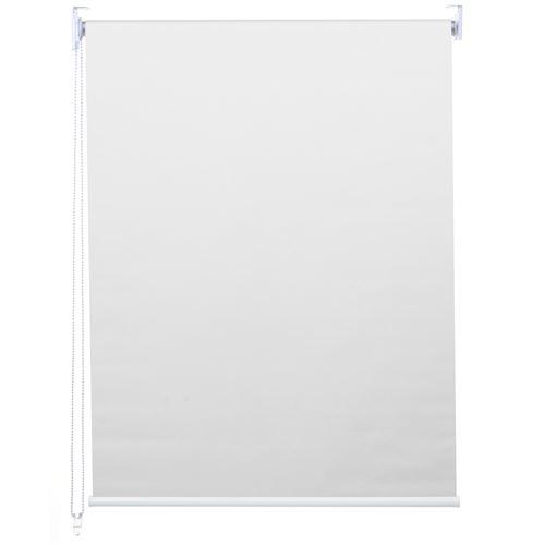 Store à enrouleur pour fenêtres, HWC-D52, avec chaîne, avec perçage, isolation, opaque, 40 x 160 ~ blanc