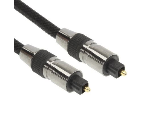 (#26) Braided Optical Audio Cable, OD: 5.0mm, Length: 2m