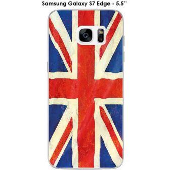 Coque Samsung Galaxy S7 Edge design Drapeau Grande Bretagne vintage