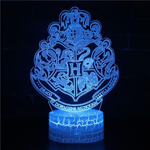 Lampe 3D Tactile Veilleuses Enfant 7 Couleurs avec Telecommande - Harry potter #248