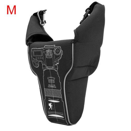 Sac anti-collision étanche en nylon pour appareil photo SLR Noir M