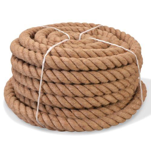 Corde de Jute Naturelle | Cordeline | Ficelle de Jute 100 % Naturel 20 mm 50 m