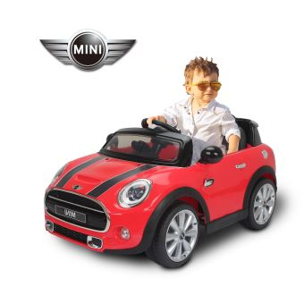 99 90 sur mini cooper voiture lectrique d s 3 ans rouge v hicule lectrique pour enfant. Black Bedroom Furniture Sets. Home Design Ideas