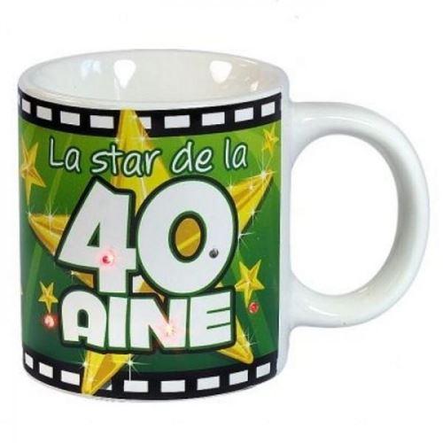 Mug Anniversaire 40 Ans Lumineux