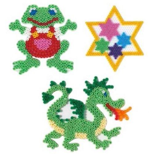 Plaques grenouille etoile dragon pour perles standard (Ø5 mm) - hama