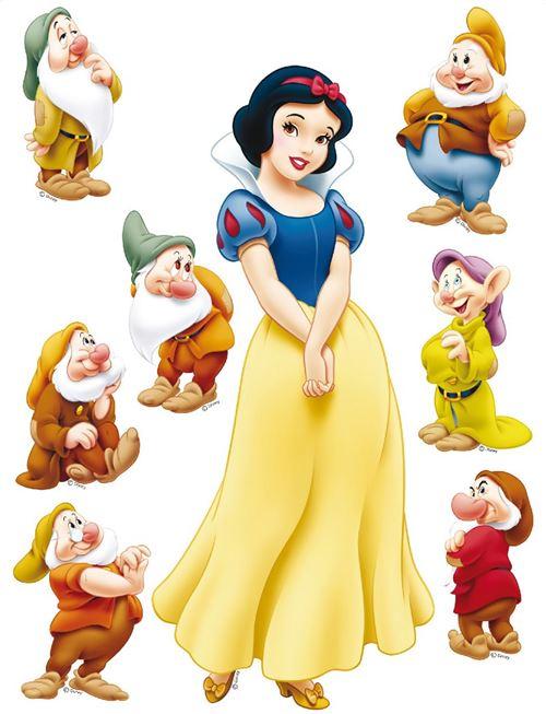 Sticker géant Blanche Neige et 7 Nains Princesse Disney