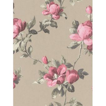 Papier Peint A Fleurs Rose Et Or Rasch Decors Et Stickers Achat