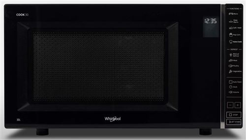 Whirlpool COOK 30 MWP301B - Four micro-ondes monofonction - pose libre - 30 litres - 900 Watt - noir
