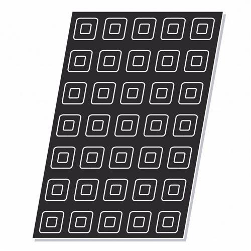 Moule Flexipan® Plaque Silicone 24 à 60 Savarins Carrés - Pujadas - x 5 - silicone 24 formes