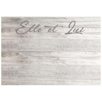 tete de lit ELLE ET LUI Tete de lit style classique effet bois vieilli - L  160 cm