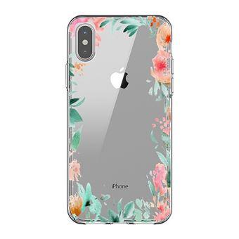 coque iphone xr fleur transparente