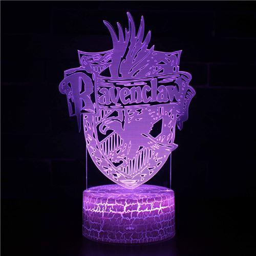 Lampe 3D Tactile Veilleuses Enfant 7 Couleurs avec Telecommande - Harry potter #250