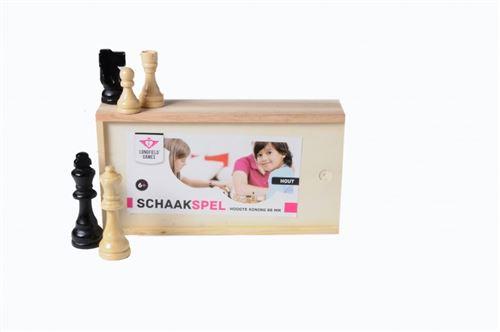 Longfield Games pièces d'échecs en bois dans boîte King 88 mm