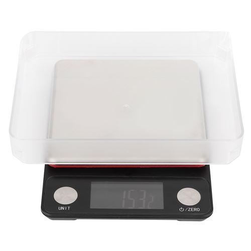 Balance de cuisine rechargeable USB 5kg / 0.1g - Noir